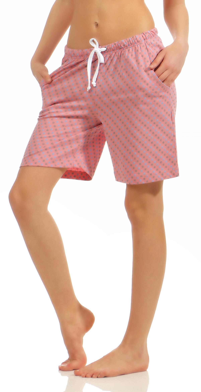 Damen Bermuda Pyjamahose kurz Tupfen Mix & Match ideal zum kombinieren 181 224 90 904 – Bild 6