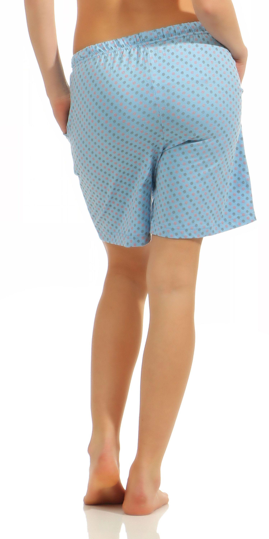 Damen Bermuda Pyjamahose kurz Tupfen Mix & Match ideal zum kombinieren 181 224 90 904 – Bild 3