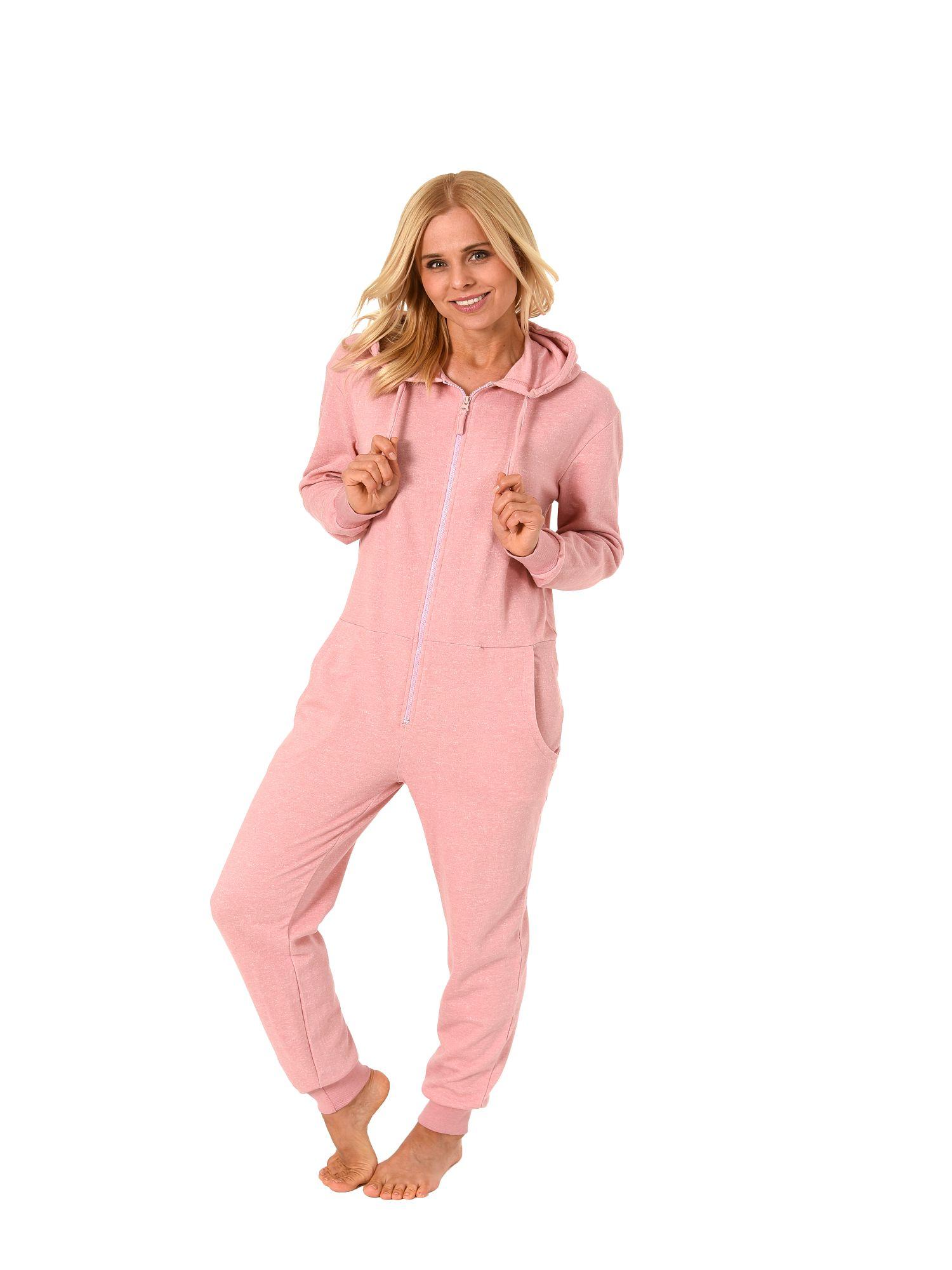 Normann Damen Schlafanzug Einteiler Jumpsuit Overall langarm  181 267 99 906 – Bild 1