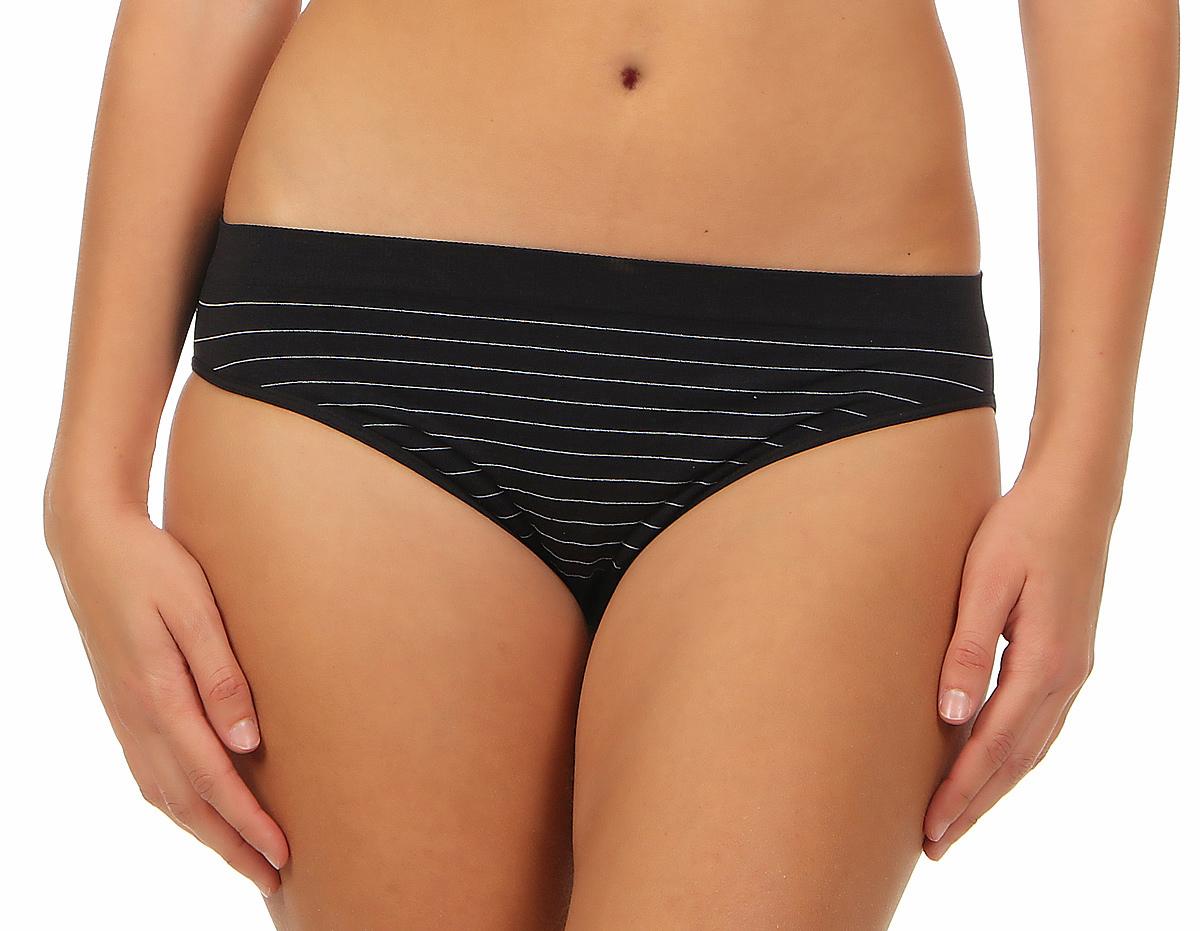 2er Pack Damen Bikini Slip nahtlos seamless Streifenoptik, optimaler Tragerkomfort – Bild 2