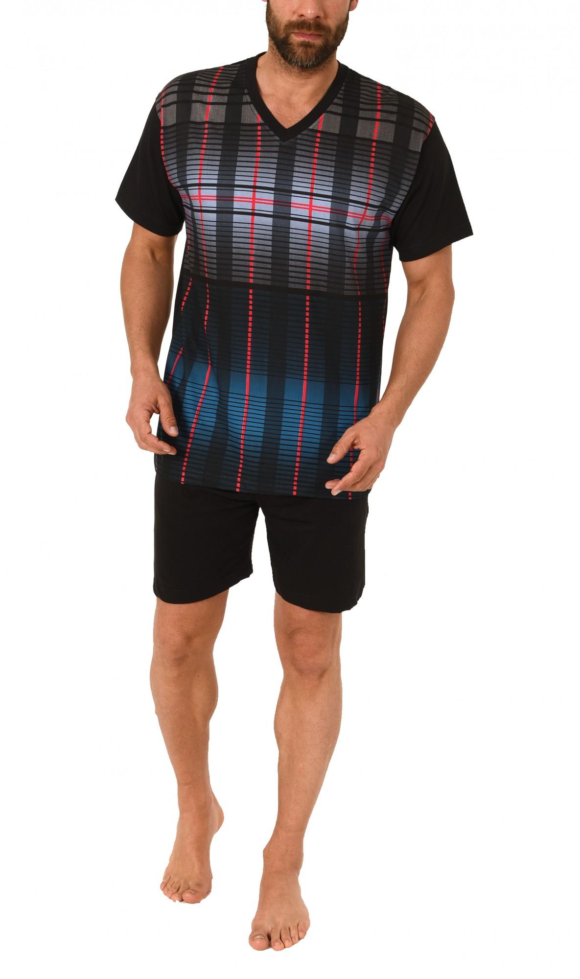 Eleganter Herren Shorty Pyjama Schlafanzug kurzarm – 60634 – Bild 1
