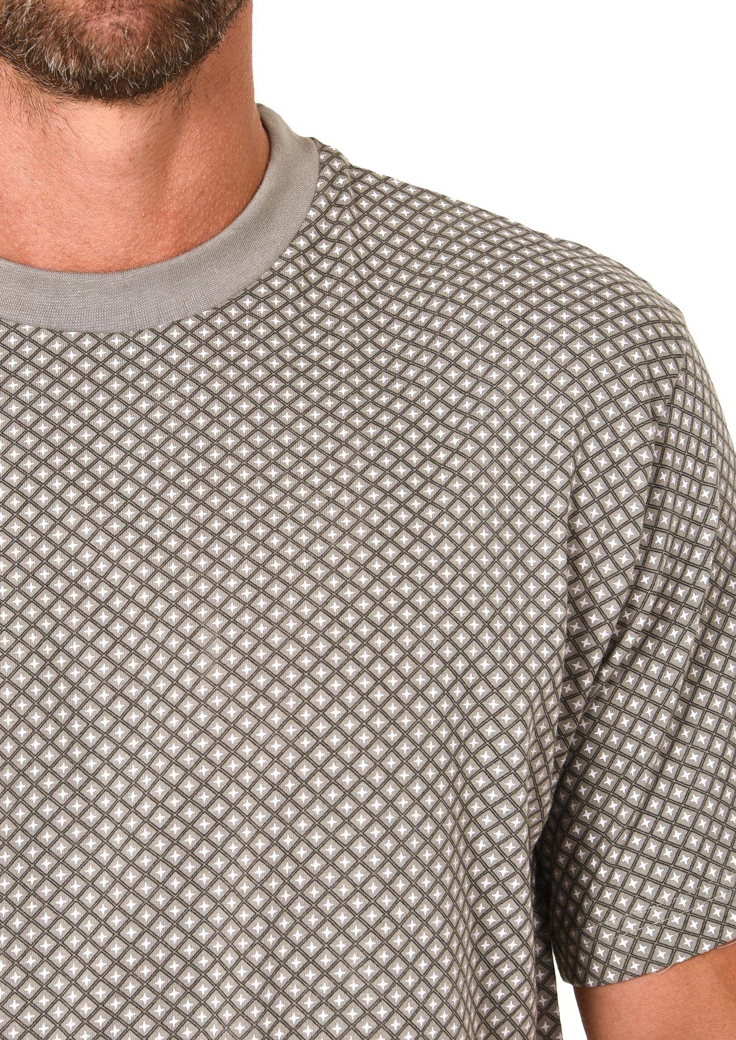 Eleganter Herren Shorty kurzarm Pyjama Schlafanzug  mit Rundhals 60845 – Bild 4