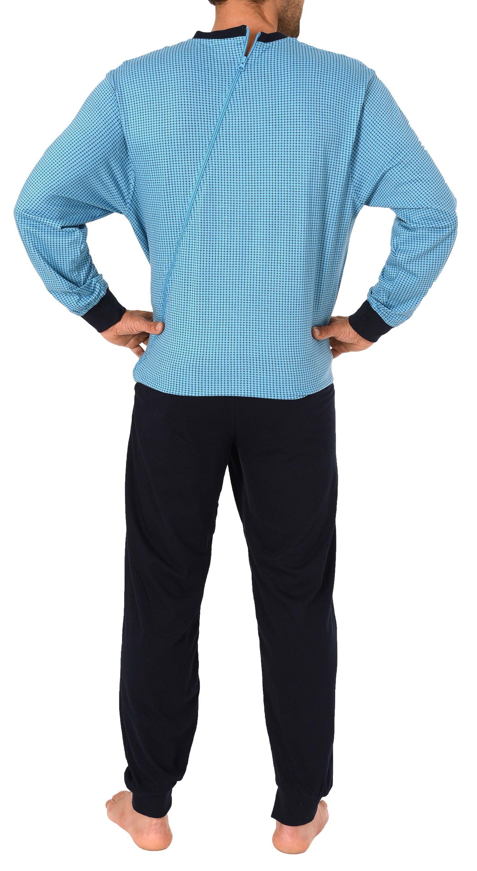 Herren Pflegeoverall langarm mit Reissverschluss an Hose + Rücken 181 170 90 418  Rücken 57687 – Bild 2