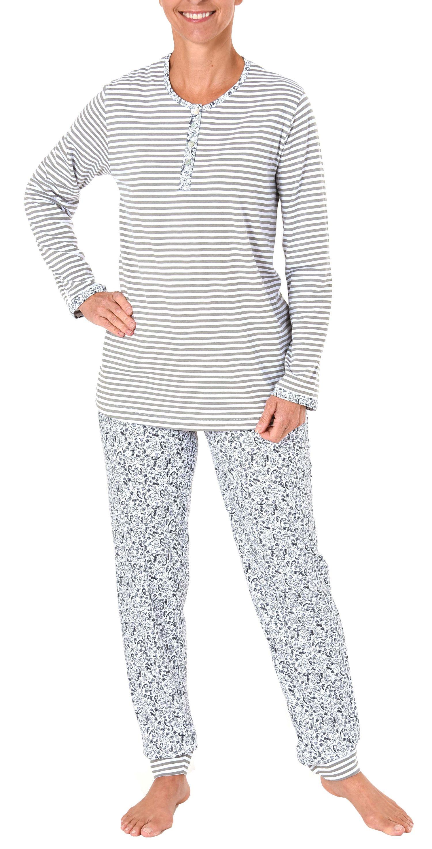 Wunderschöner Damen Pyjama langarm - auch in Übergrössen bis 60/62 - 281 201 90 100 – Bild 2