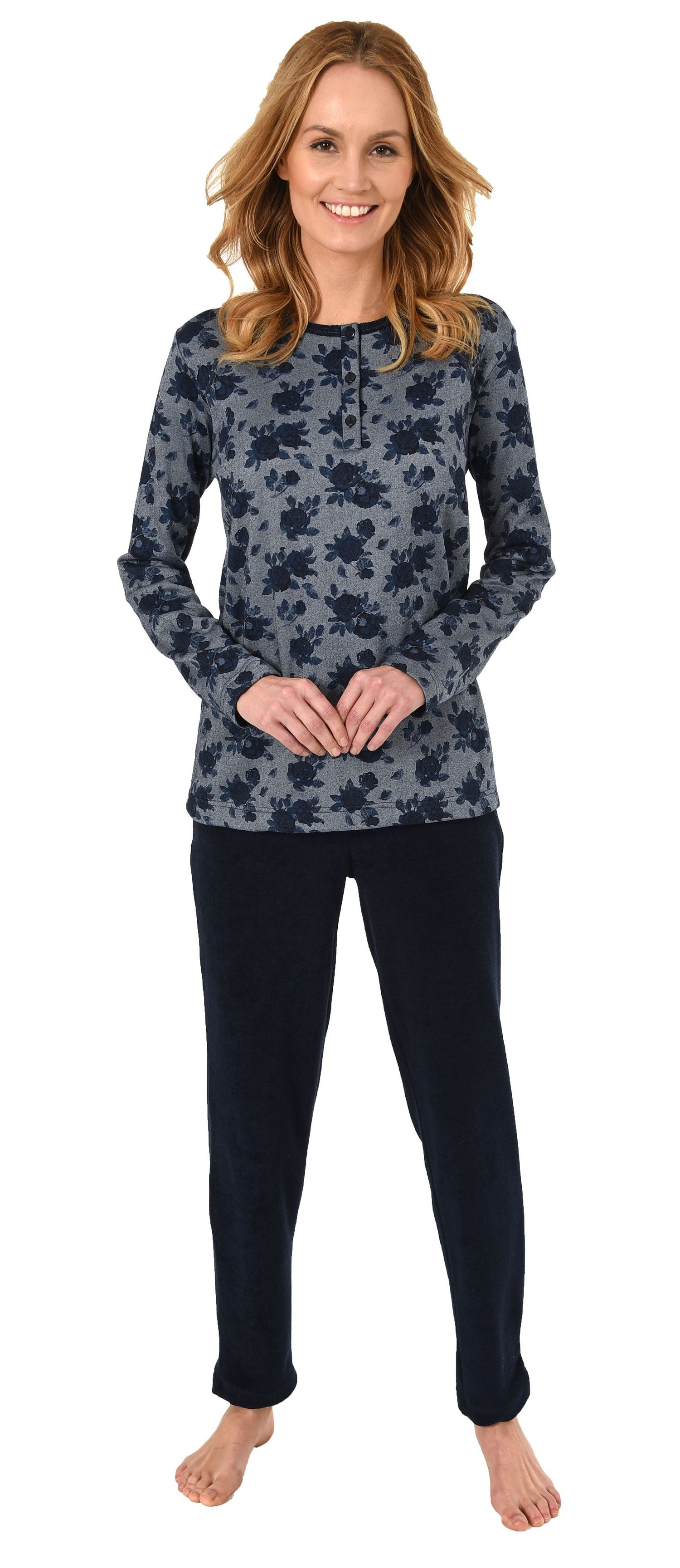 cheap for discount eb08e 64962 Damen Frottee Pyjama Schlafanzug - auch in Übergrössen bis Gr. 60/62 - 281  201 93 030