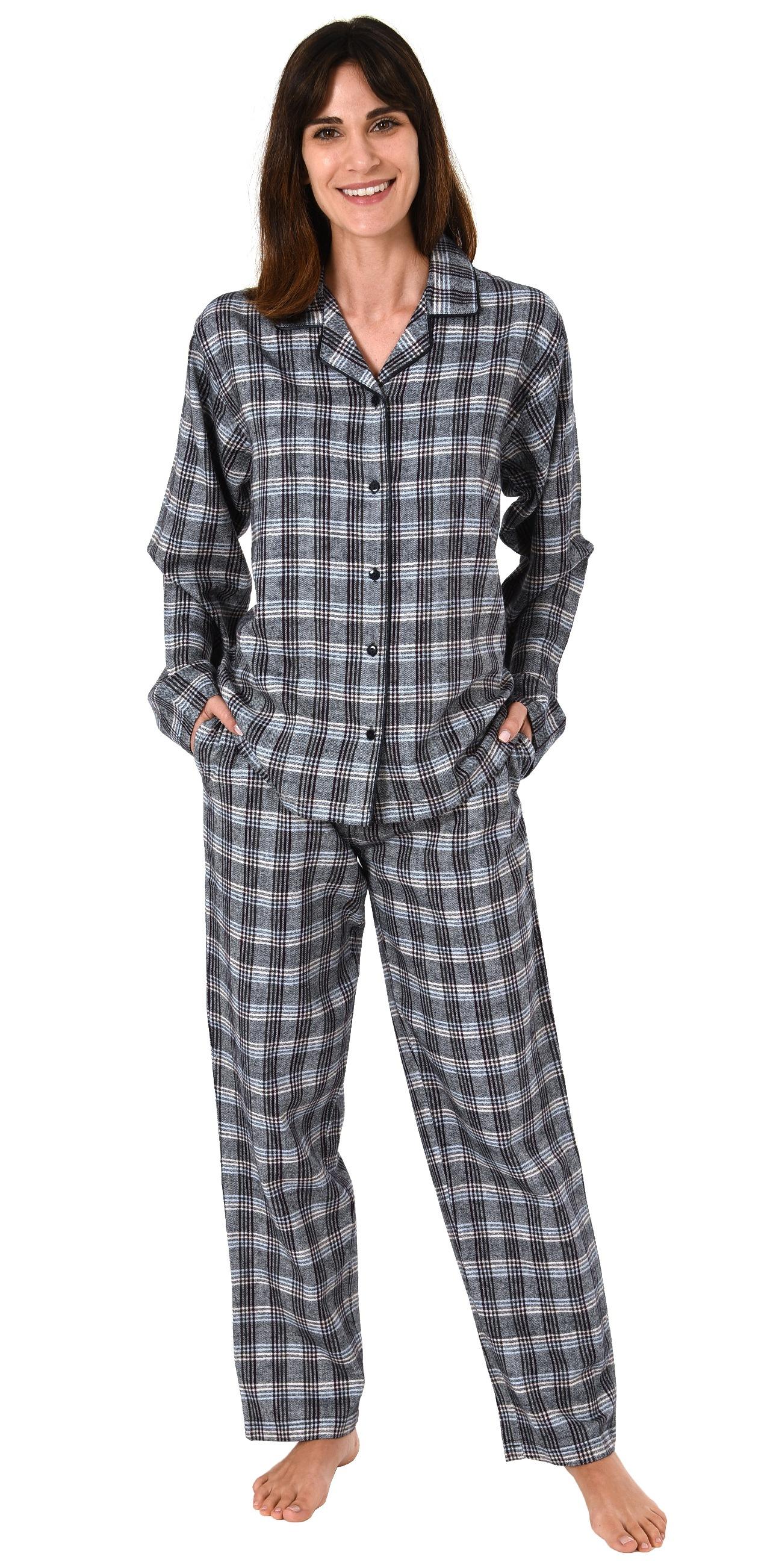 buy popular 3d35d 49fbd Damen Flanell Pyjama Schlafanzug langarm kariert – auch in Übergrößen 281  201 95 991