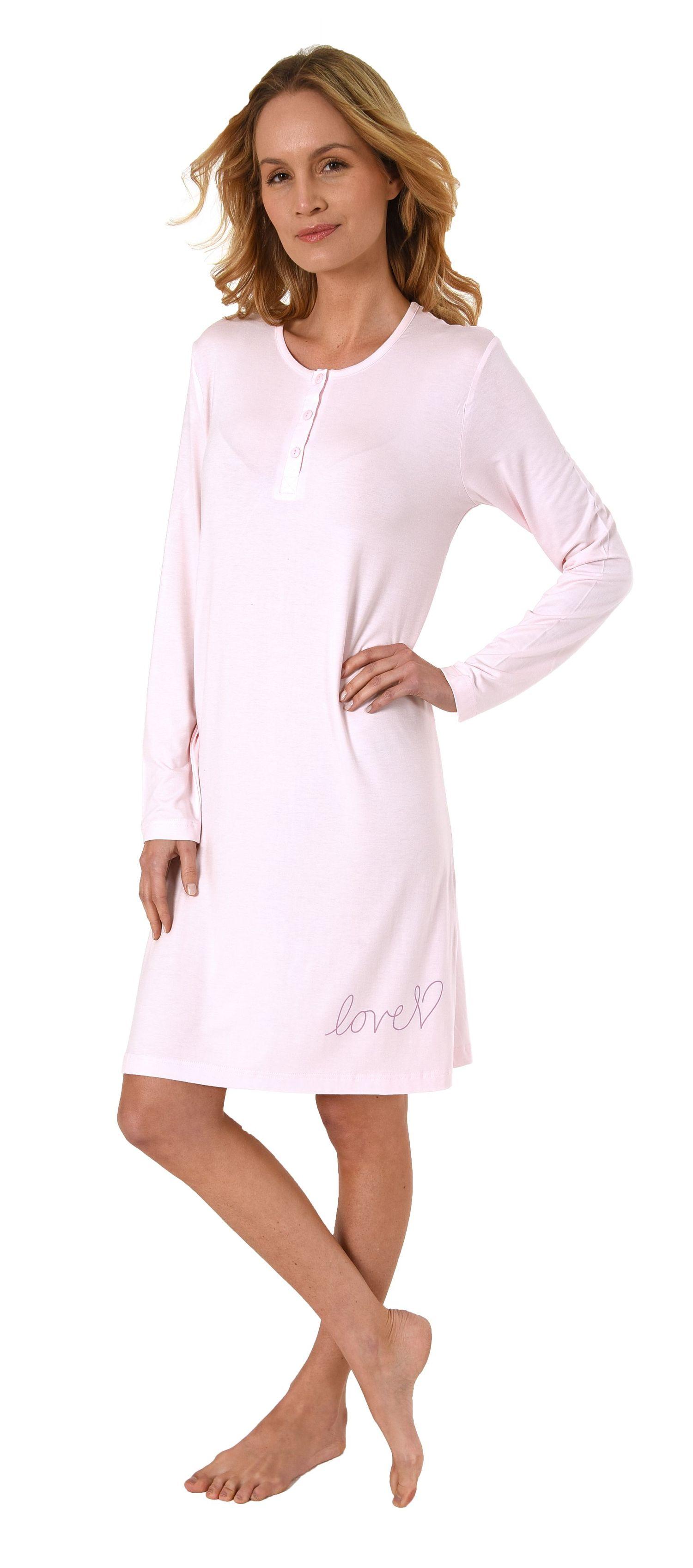 sale retailer bf687 5285b Elegantes Damen Nachthemd Bigshirt langarm mit Knopfleiste - 281 213 90 351    Tag- und Nachtwäsche im Wäscheland