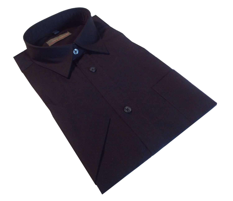 Herren Hemd Kurzarm schwarz - in Größe S bis XXL, 7981 – Bild 2