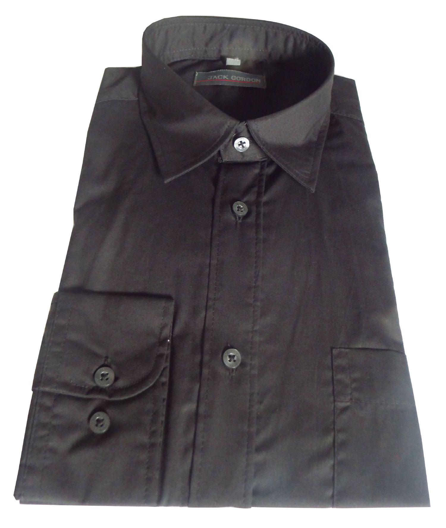 Herren Hemd langarm schwarz - in Größe S bis XXL, 7973 – Bild 1