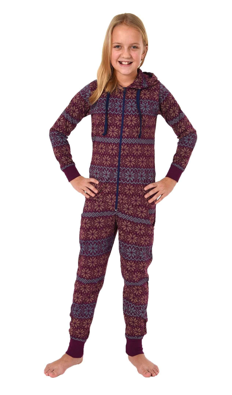 Cooler Mädchen Jumpsuit, Einteiler Mädchen in Norwegeroptik - 281 467 90 418