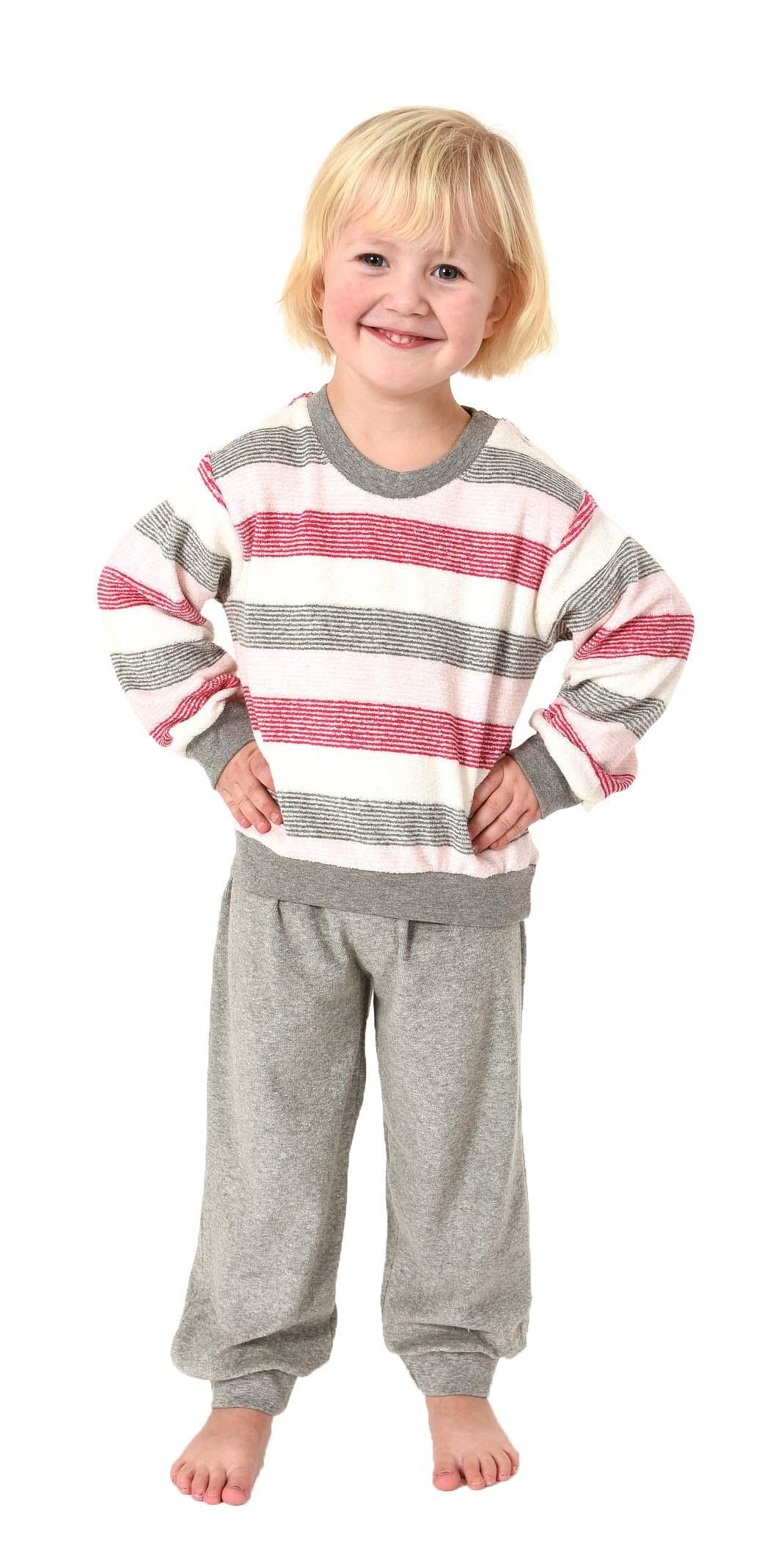 2416d6866c Mädchen Pyjama Polarfrottee, langer Schlafanzug mit Bündchen Gr. 86-110,  281 701