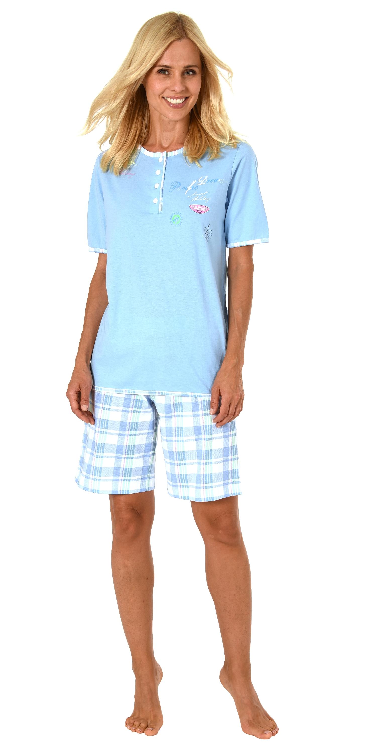 more photos 78434 fa1c1 Sommerlicher Damen Shorty Pyjama Schlafanzug kurzarm, Shorts ...