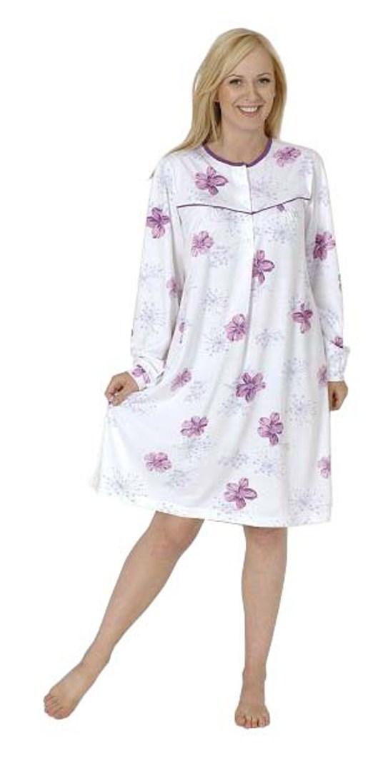 Damen Pflegenachthemd langarm, Rückenteil offen  999 270 90 001