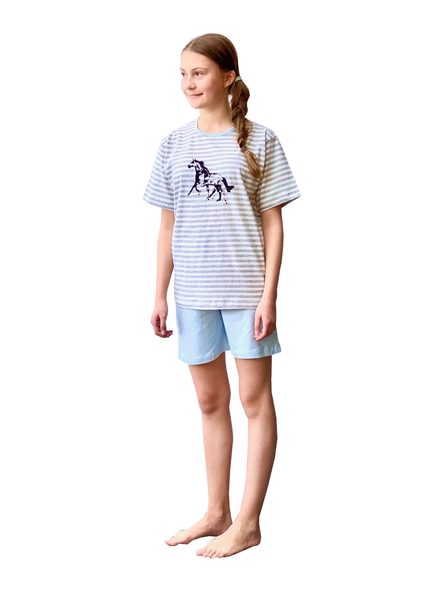 63857 Cooler Mädchen Shorty Pyjama Schlafanzug kurzarm in tollem Ethno-Look