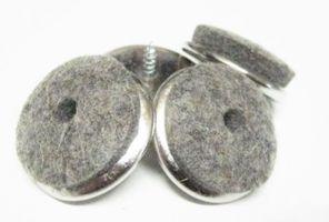 Metall-Filzgleiter zum Schrauben