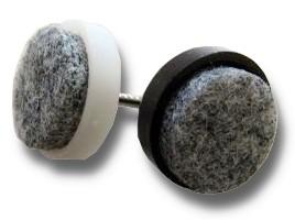 24 mm Kunststoff-Filzgleiter zum Nageln Weiß 50 Stück