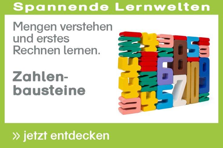 Zahlenbausteine in den Montessori-Farben