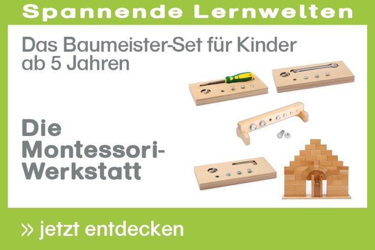 [Paket] Die Montessori-Werkstatt Das Baumeister-Set