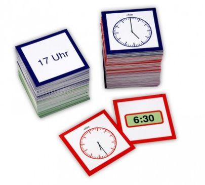 Die Uhrzeit - Arbeitsmaterial nach Montessori