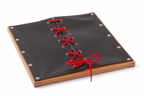 Anleitung Rahmen mit Schnürsenkel