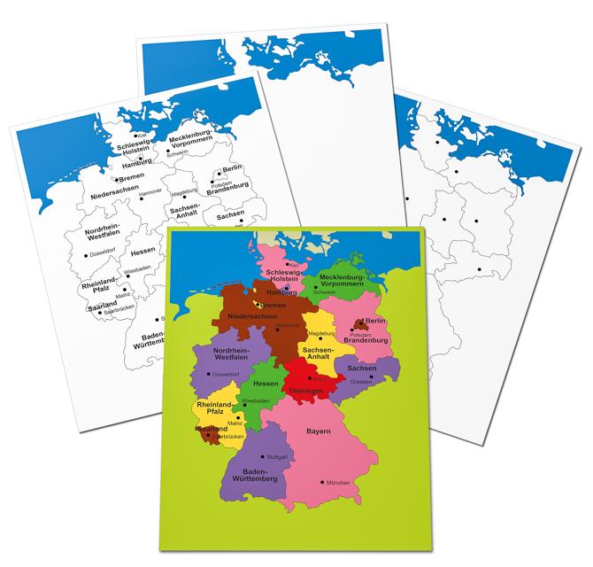 4 Kontrollkarten Deutschland