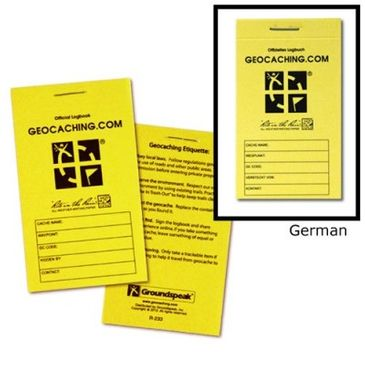 Offizielles Logbuch GEOCACHING.COM – klein, wetterfest