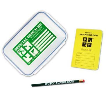 Original Geocaching Cachebehälter Groß mit Logbuch und Bleistift
