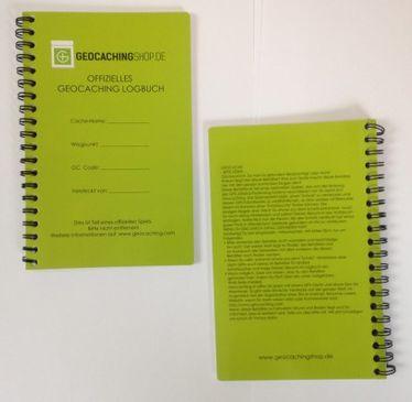 Offizielles Geocaching Logbuch 11x17cm – Spiralbindung