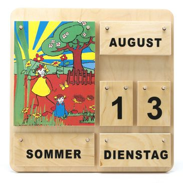 Kinder Lernkalender aus Holz - Dauerkalender