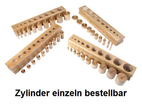 Einzelne Zylinder der 4 Einsatzzylinderblöcke