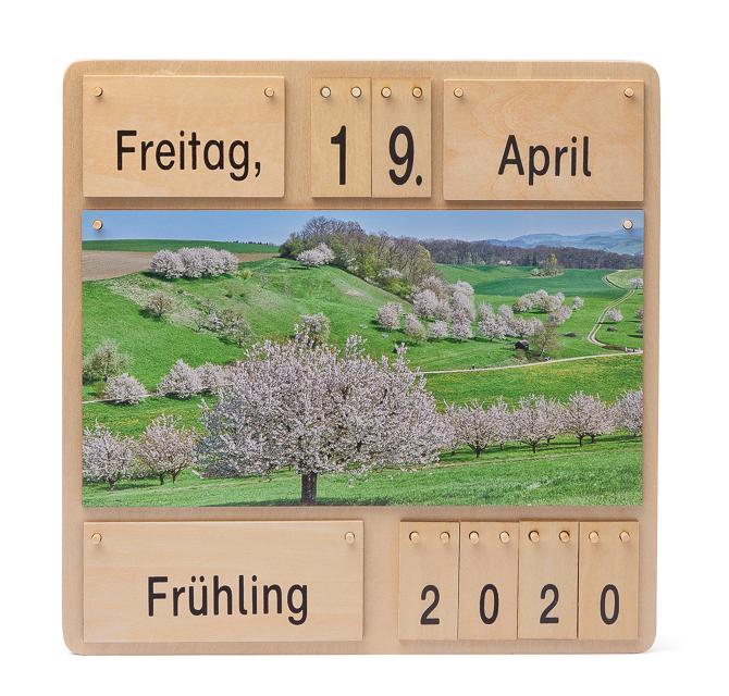 Dauerkalender Vier Jahreszeiten - Holzkalender
