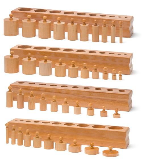 Einsatzzylinder - Materiale Montessori