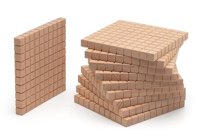 10 Hunderterplatten vom Mathematischen Würfel