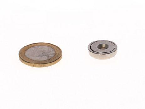 Neodym-Topfmagnet - D 16 mm x 4,5 mm (5,5 kg)