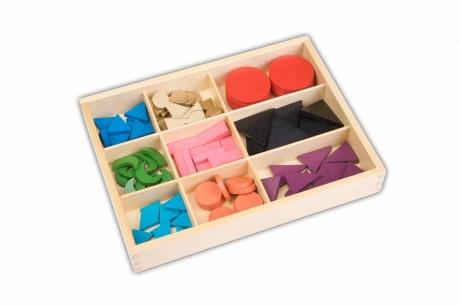 Wortartenkasten mit Holzsymbolen