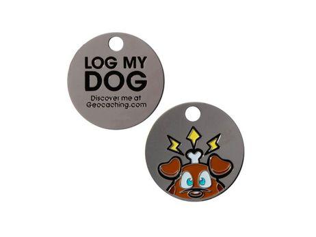 Original Groundspeak Log My Dog Tag Trackable