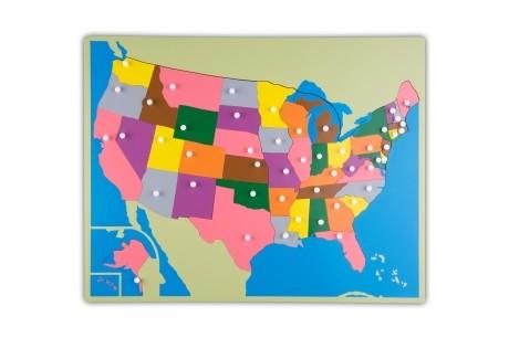 Puzzlekarte Amerika