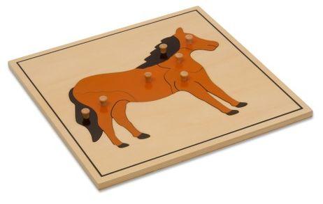 Puzzlekarte - Das Pferd