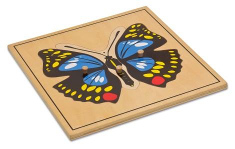 Puzzlekarte - Der Schmetterling