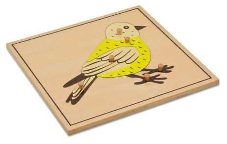 Puzzlekarte - Der Vogel