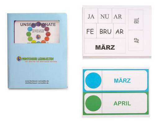 Aufbauende Lernkartei - Unsere Monate