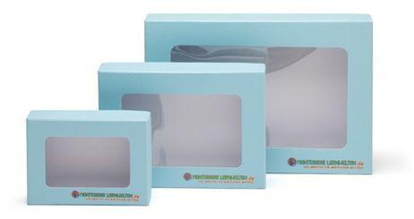 Aufbewahrungsbox mit Sichtfenster A5 blau