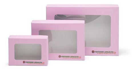 Aufbewahrungsbox mit Sichtfenster A4 rosa