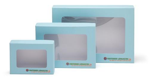 Aufbewahrungsbox mit Sichtfenster A6 blau