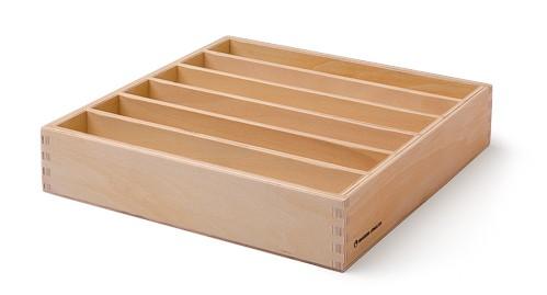 Holzkasten mit 6 Fächern für Stöpselkarten
