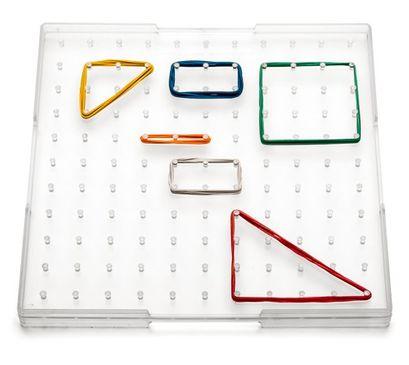 Geometriebrett quadratisch transparent 23 cm