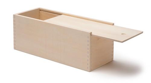 Holzkasten mit Schiebedeckel, ca. 31 x 11 x 11 cm