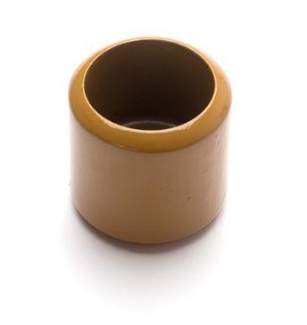 Goldener Holzbecher für goldene Perlen