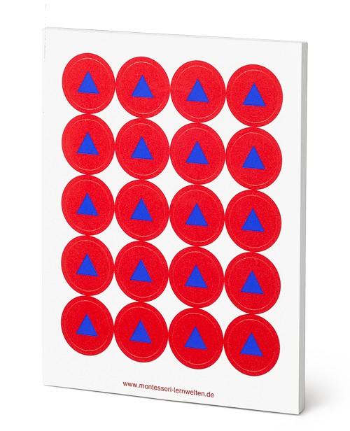 Wortartensymbol Partizip Montessori Aufkleber