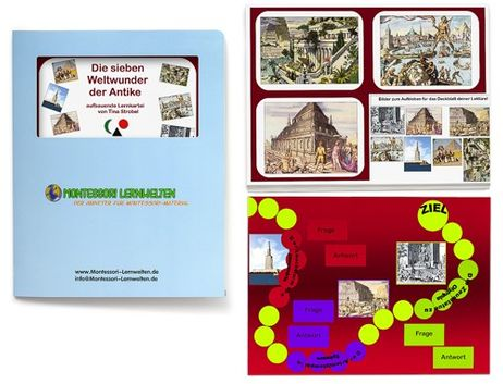Aufbauende Lernkartei - Weltwunder der Antike